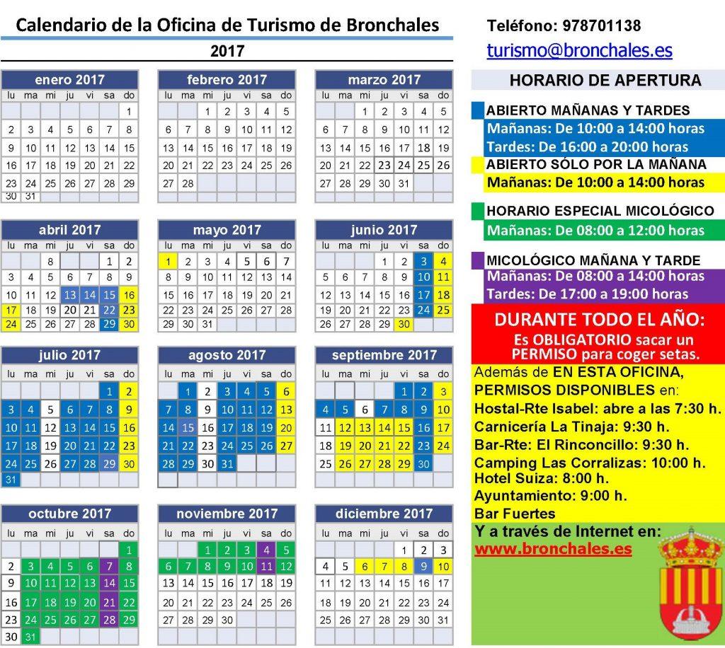 Nuevo horario de la oficina de turismo de bronchales para for Horario oficinas correos agosto