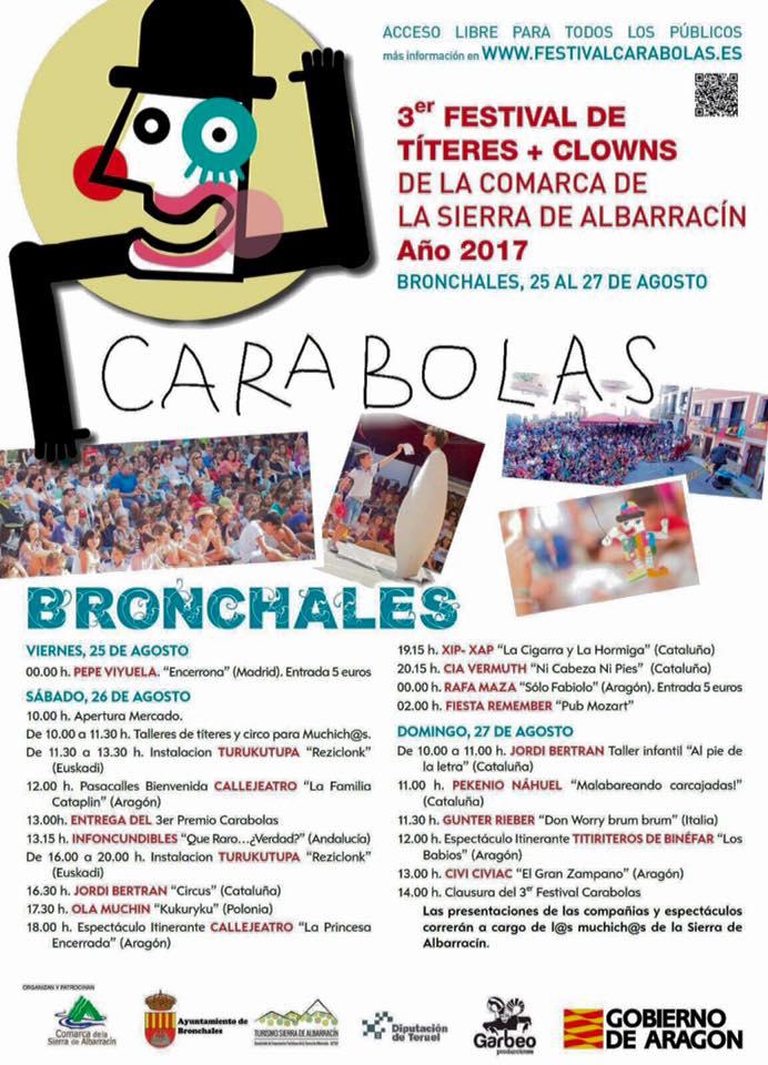 Foto del cartel del Festival Carabolas 2017
