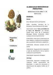 Cartel II Jornadas micológicas MU primavera 2016