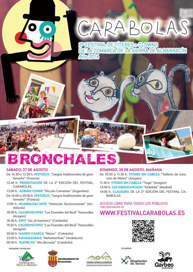 Imagen del cartel de Festival Carabolas 2016