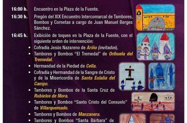 Cartel XIX Encuentro Intercomarcal Tambor y Bombo Bronchales 2017