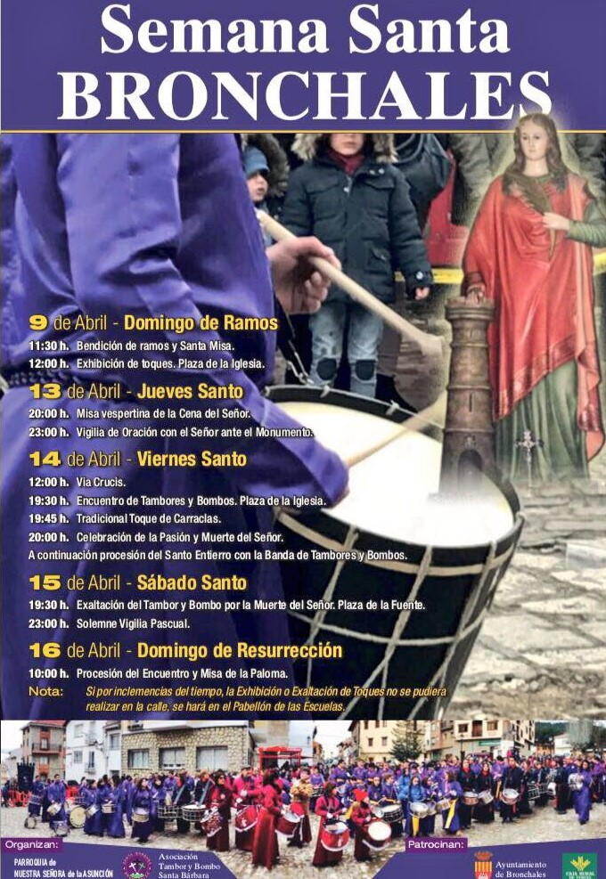 Cartel de Semana Santa de Bronchales 2017