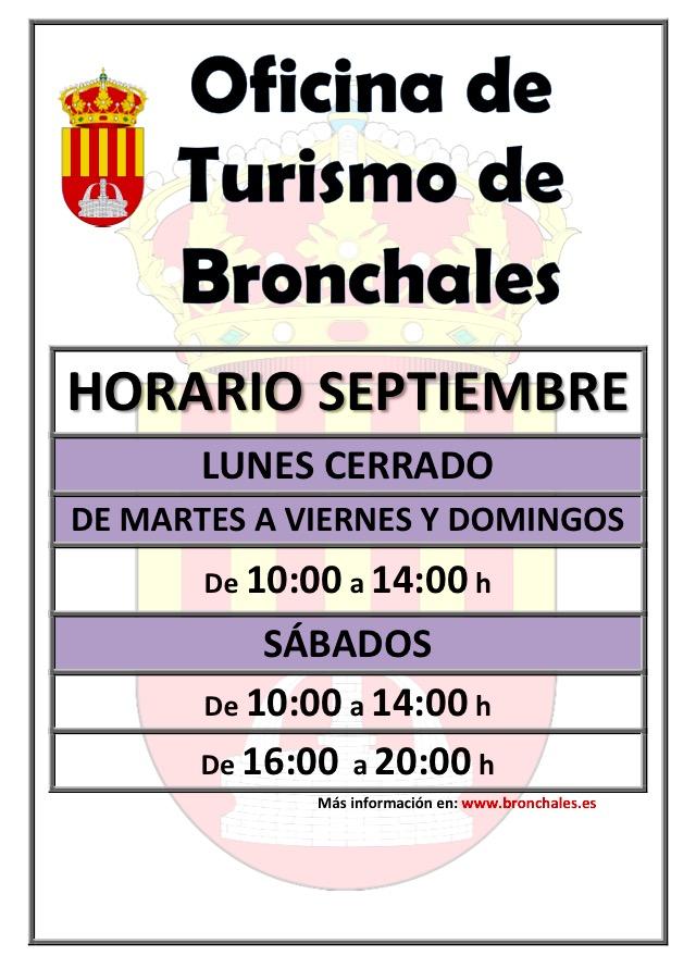 Nuevo horario de la oficina de turismo de bronchales para for Horario oficina adeslas